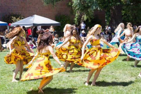 The Afro-caribbean dance class came out and performed for an audience. Photo credit: Ryan Corrall