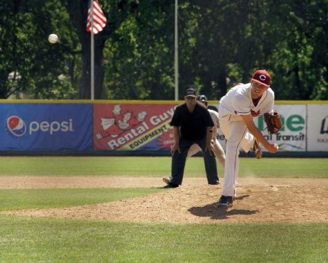 Junior Stuart Bradley throws a pitch during a game against Sonoma State. Photo credit: Jacob Auby