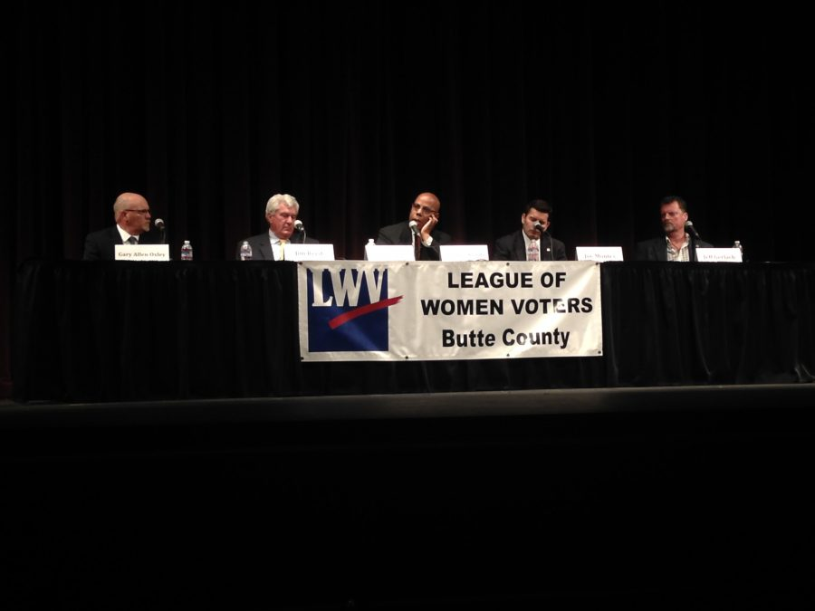 The league of women hosted an open forum in the PAC Tuesday. Photo credit: Amelia Storm