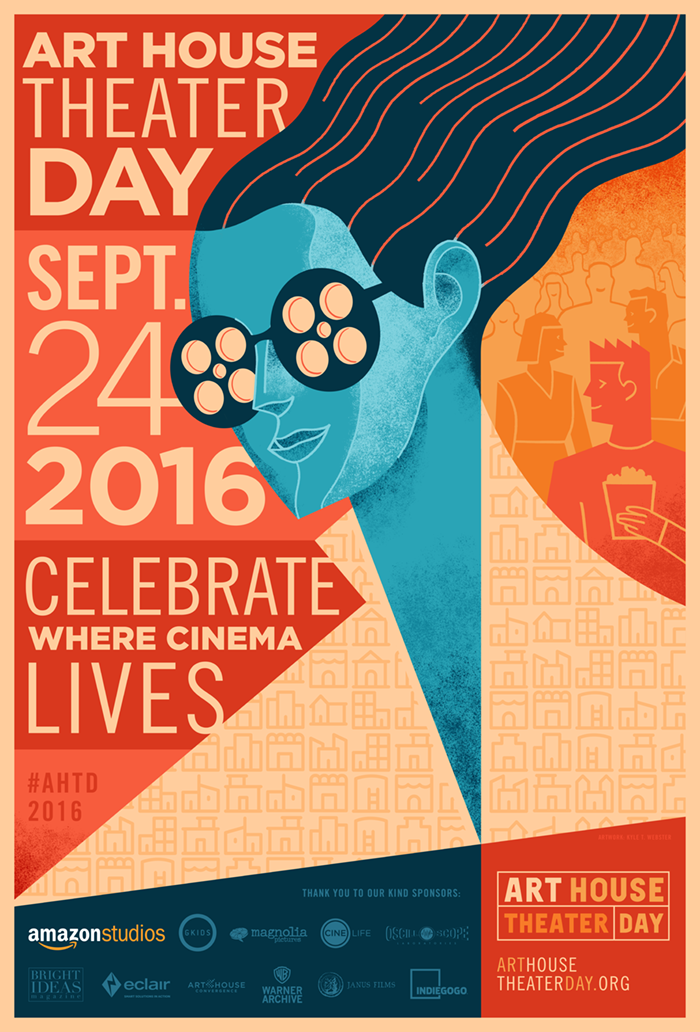 Promotional poster for Art House Theater Day via (http://www.arthousetheaterday.org/media.php)