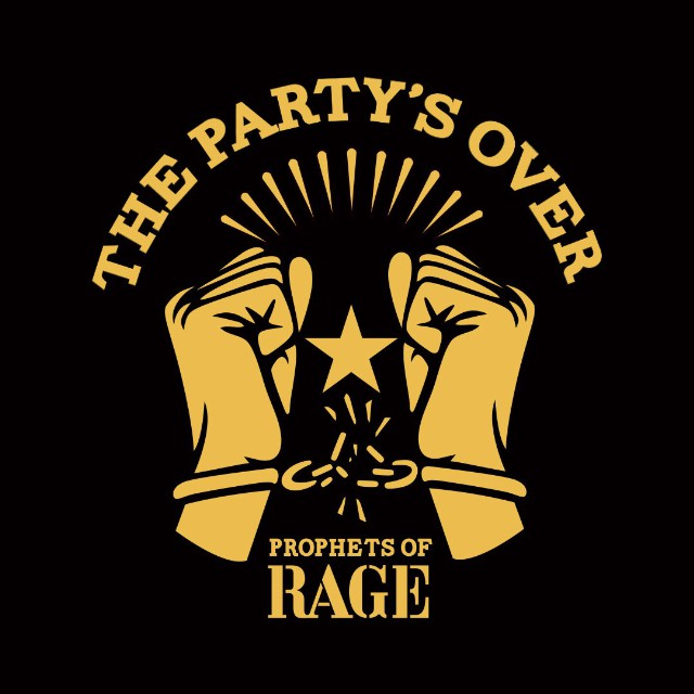 Prophets of Rage protest with 'The Party's Over'