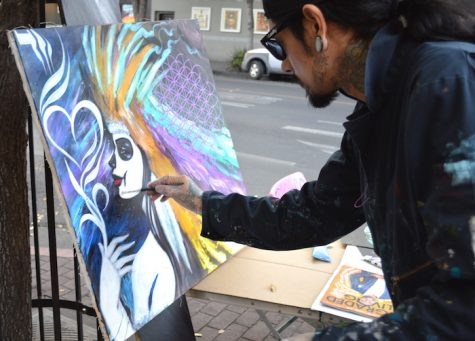Local artists display work at Thursday night market