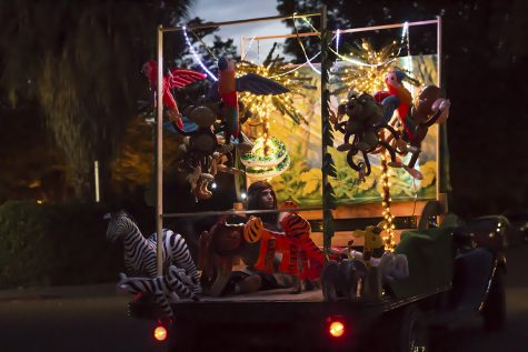 Square Deal Mattress Factory had a float that featured a Tarzan type theme. Photo credit: Jordan Rodrigues
