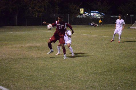 Senior forward Rajaee DeLane juggles the ball away from a defender during a 'Cats home game. Photo credit: Jordan Jarrell