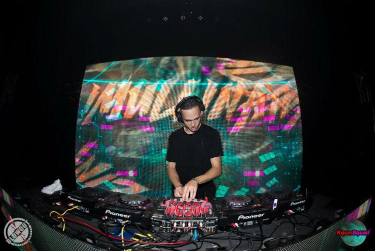 DJ iMullinati spinning at a show. Photo courtesy of Ryan Mullin via Fish Photography and KqumSquad.