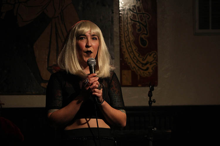 Casi+Pantalones+says+%22have+you+guys+ever+met+Satan%3F%22+and+says+we+need+to+open+up+to+the+idea+that+Satan+is+a+nice+girl.+Photo+credit%3A+Abigail+Jones