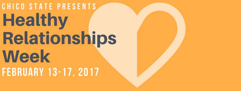 Healthy Relationships Week. Photo courtesy of CSU Chico Safe Place Facebook page