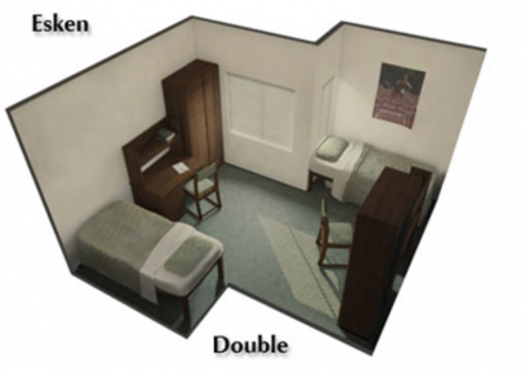 Floor plan of rooms available in Esken Hall. Photo courtesy of Chico State