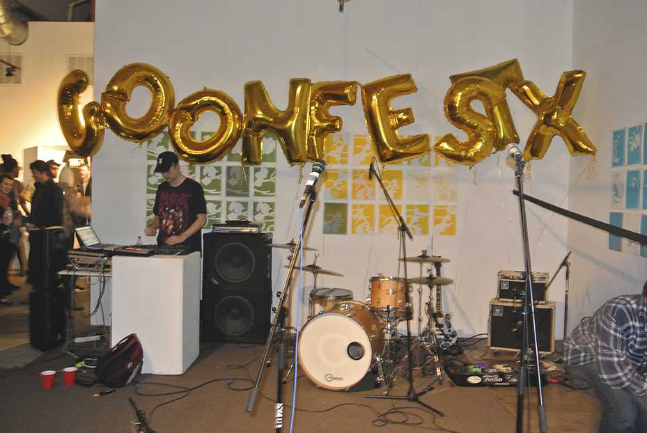 Stage set up for Goonfest X before the show. Photo credit: Natasha Doron