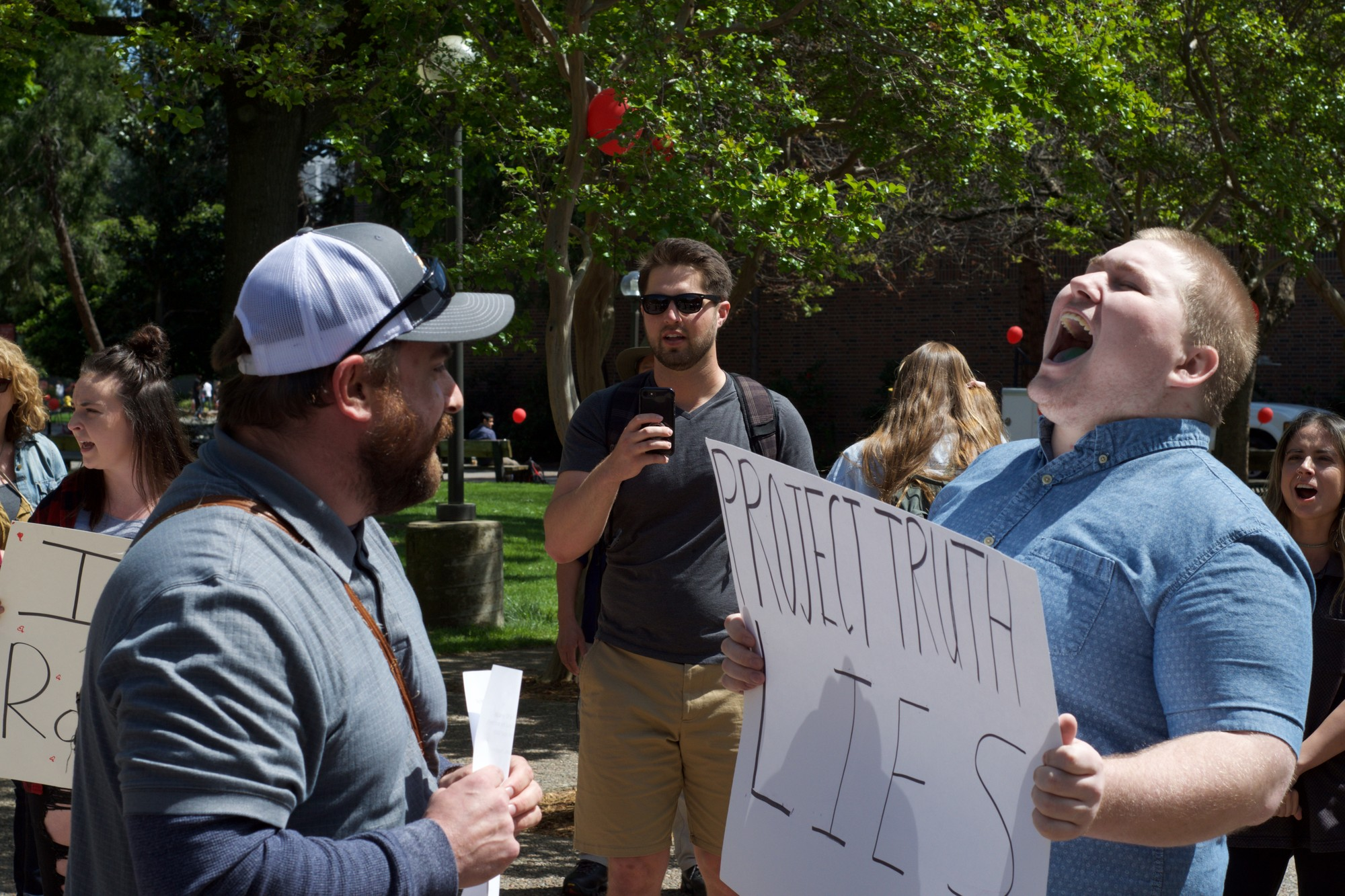 Protesters clash on campus