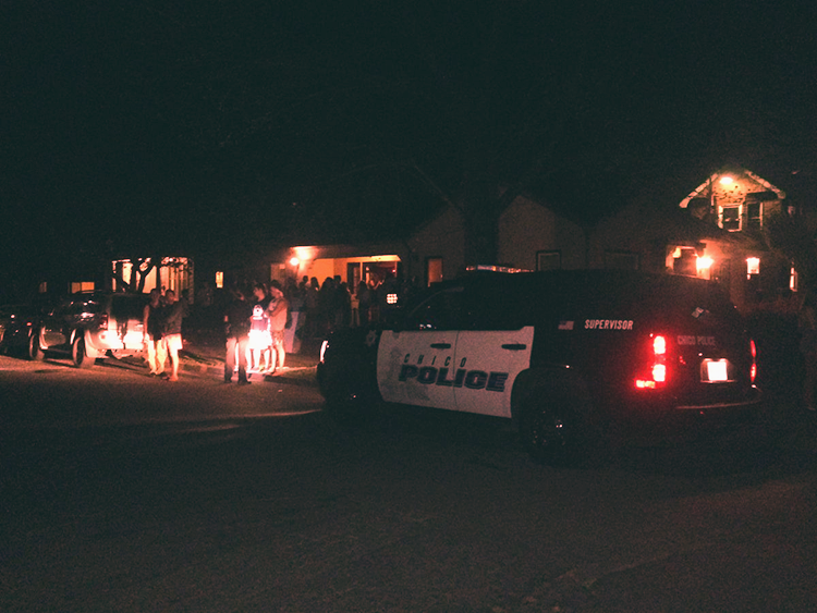 Shots+fired+outside+of+fraternity+annex+house.+Photo+credit%3A+Nicole+Henson
