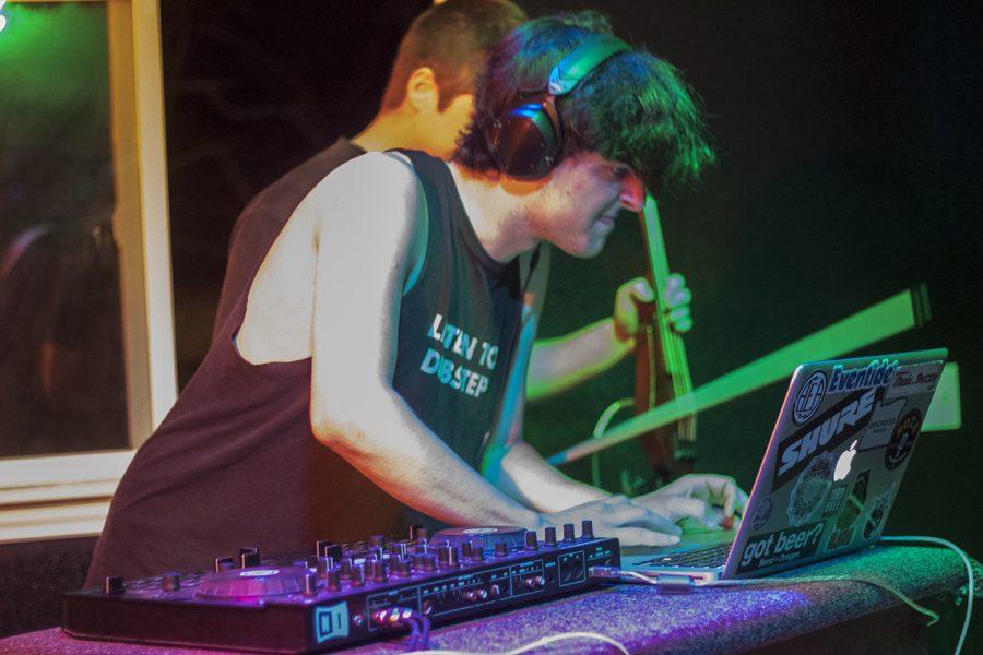 DJ Daniel James during his set at the UHM fest Photo credit: Natasha Doron