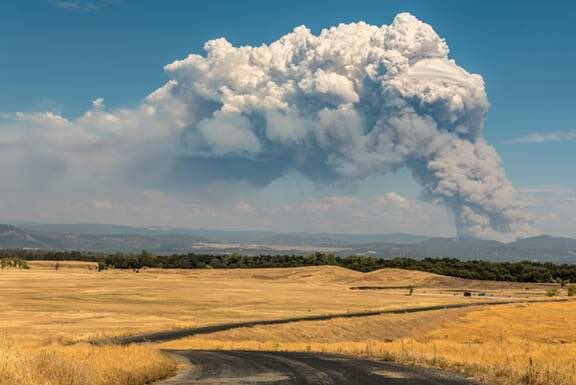 Lightning-Sparked Wildfires Burn in Northern California
