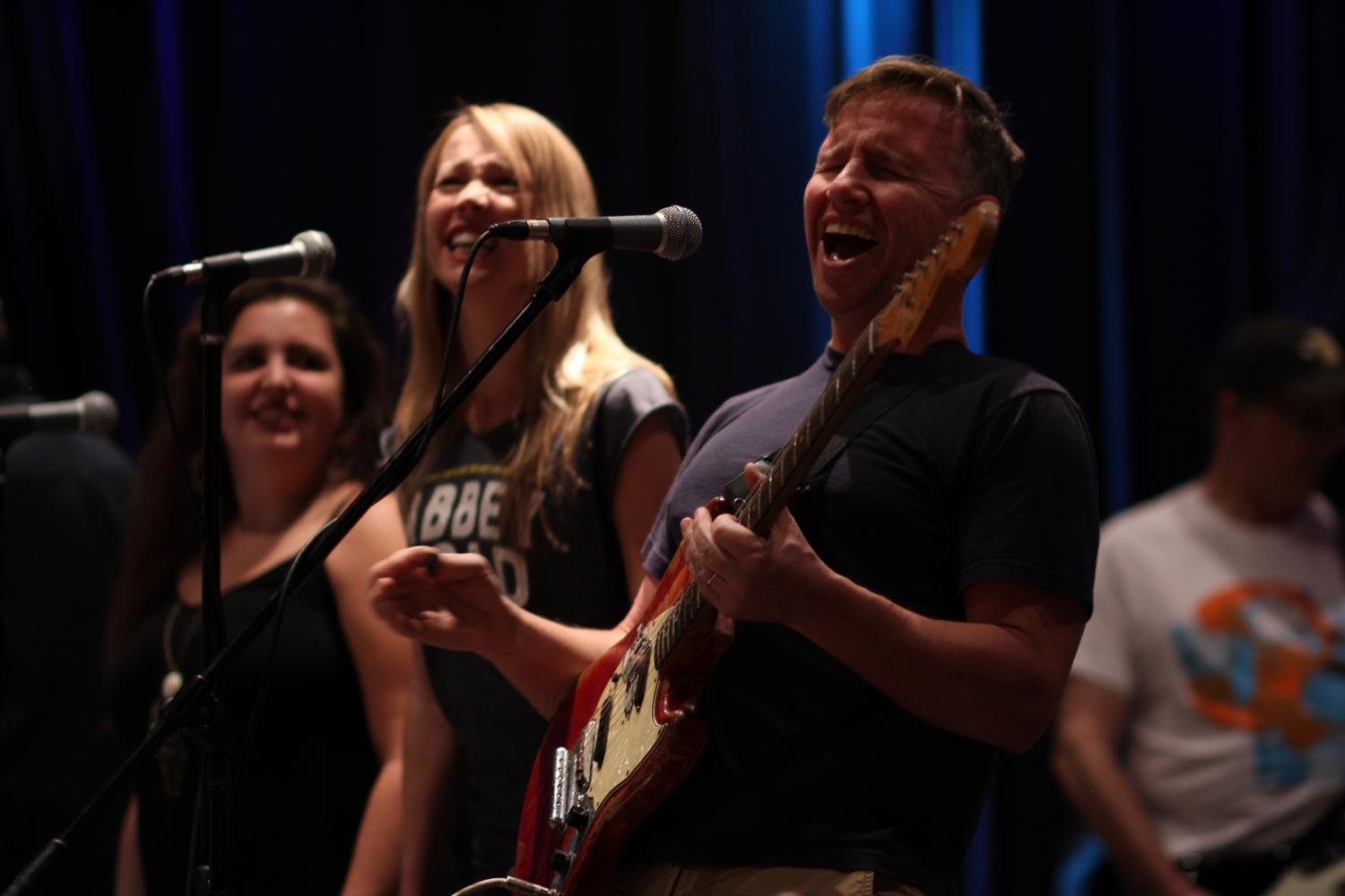"""Local artist, Jason Cassidy (right) says """"[Small Town Big Sound is] a better way to feel connected to the greater Chico music community."""""""