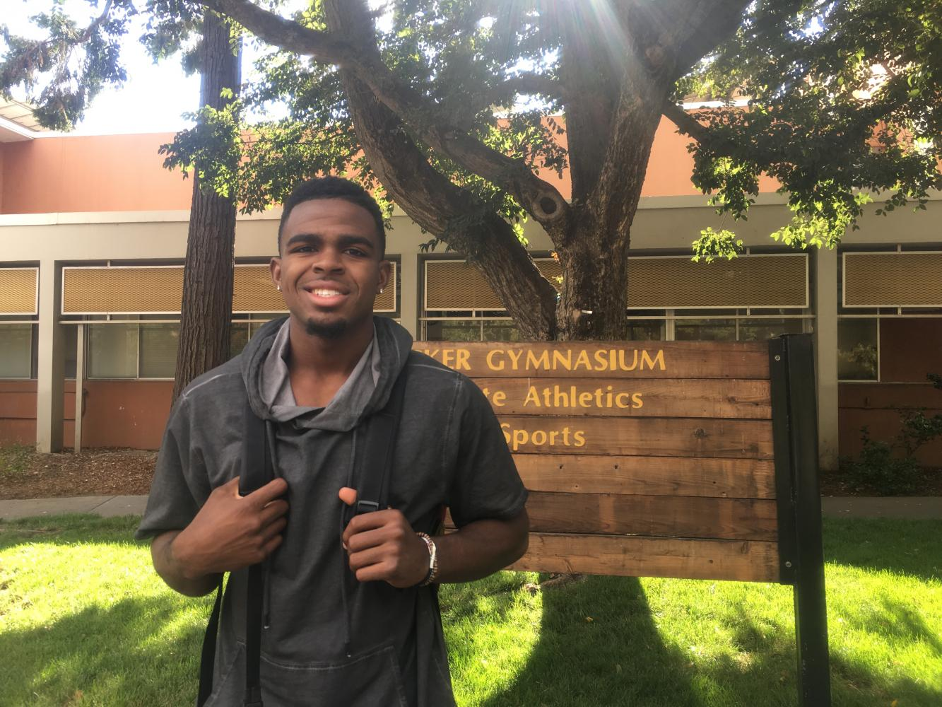 Jaylen, a Chico State senior, helped create the free entertainment app ENT Now. Photo credit: Natalie Hanson