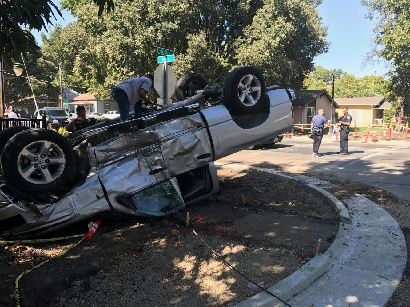 Car Flips During An Accident The Orion