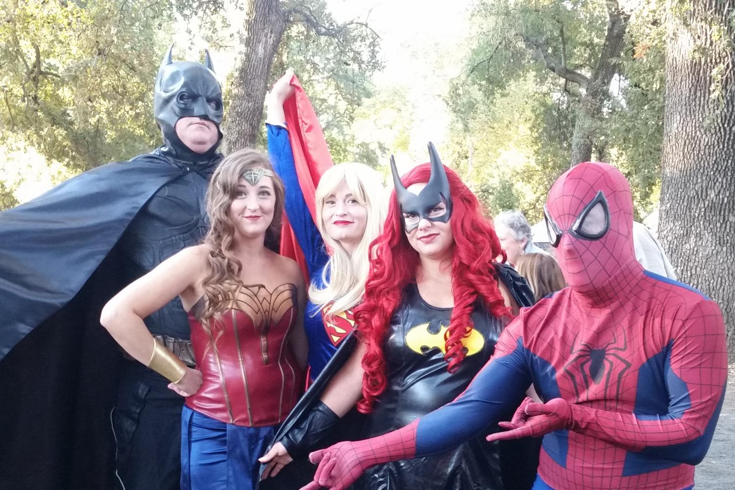 Superheroes run for a good cause