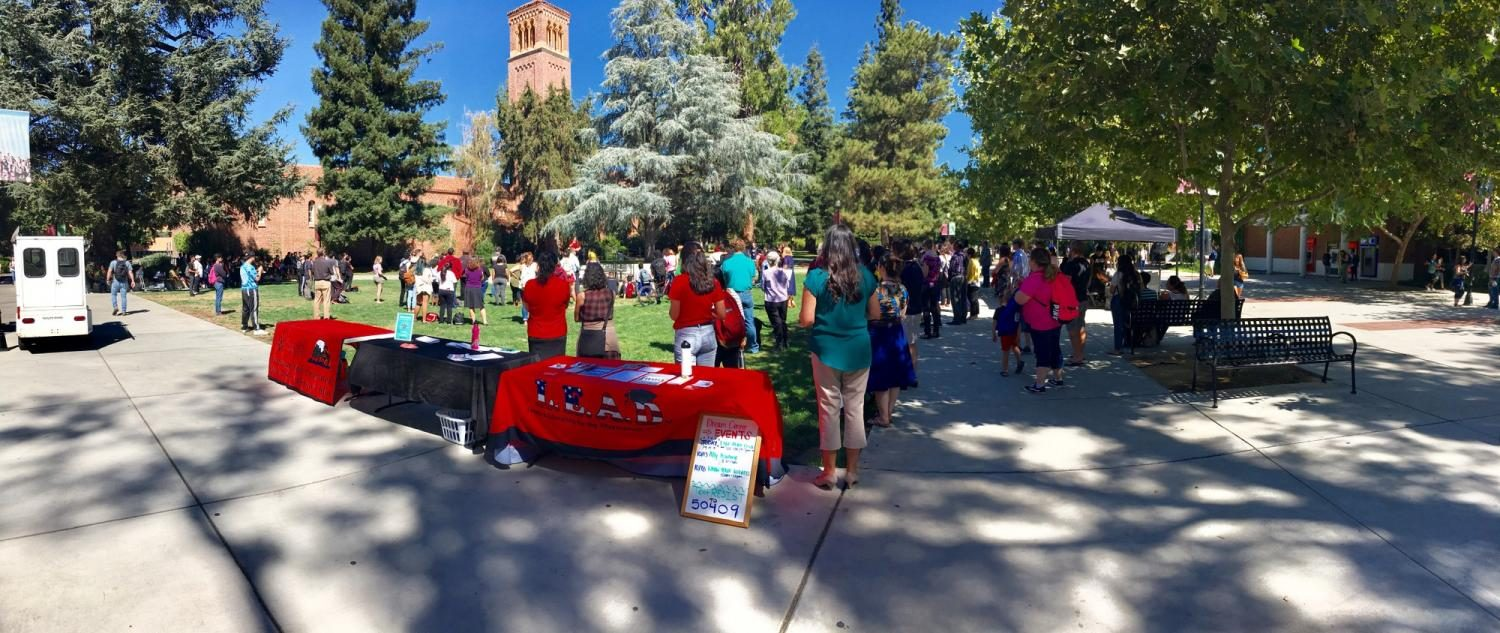 The+campus+community+expressed+solidarity+at+Chico+State+for+undocumented+students.+Photo+credit%3A+Luke+Dennison