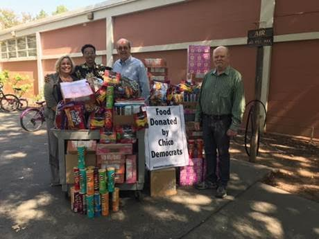 Chico Democrats donate $600 worth of food for students