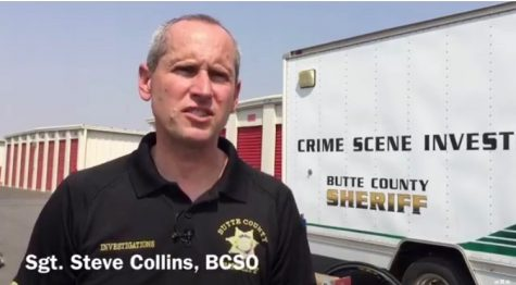 Sgt. Steve Collins investigates the case. Photo courtesy of Butte County Sheriff's Office.