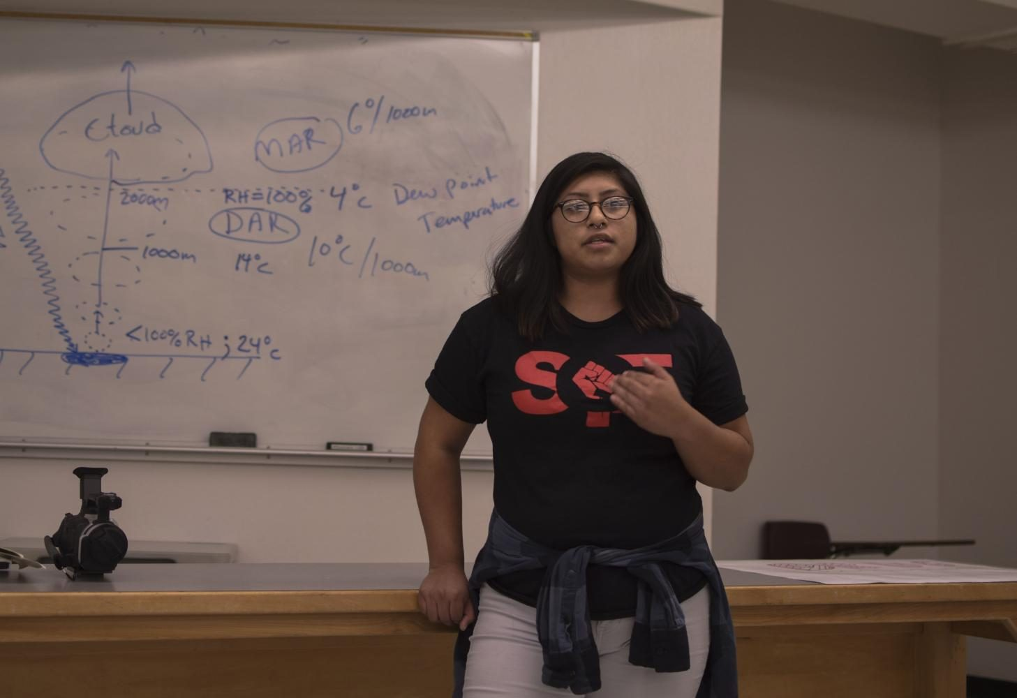 HFA+student+speaks+about+her+concerns+over+budget+cuts+and+what+that+may+mean+for+her+future.+Photo+credit%3A+Anisha+Brady