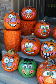 Painted pumpkins photo for