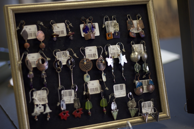 Earrings made by Pamela Robinson.