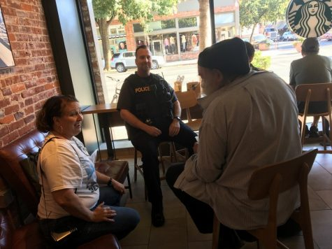 Officer Mark Hoffman, was available to conversate with community members. Photo credit: Christian Solis