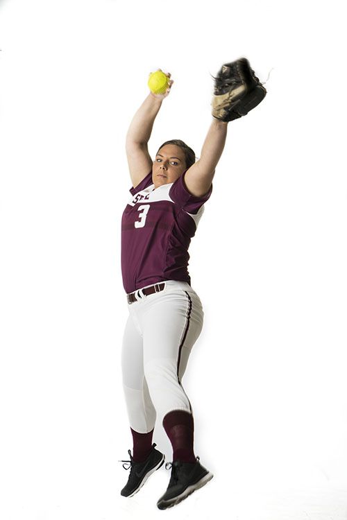 Haley+Gilham+shows+her+pitching+form+in+a+studio+shot+for+The+Orion.+Photo+credit%3A+Franky+Renteria