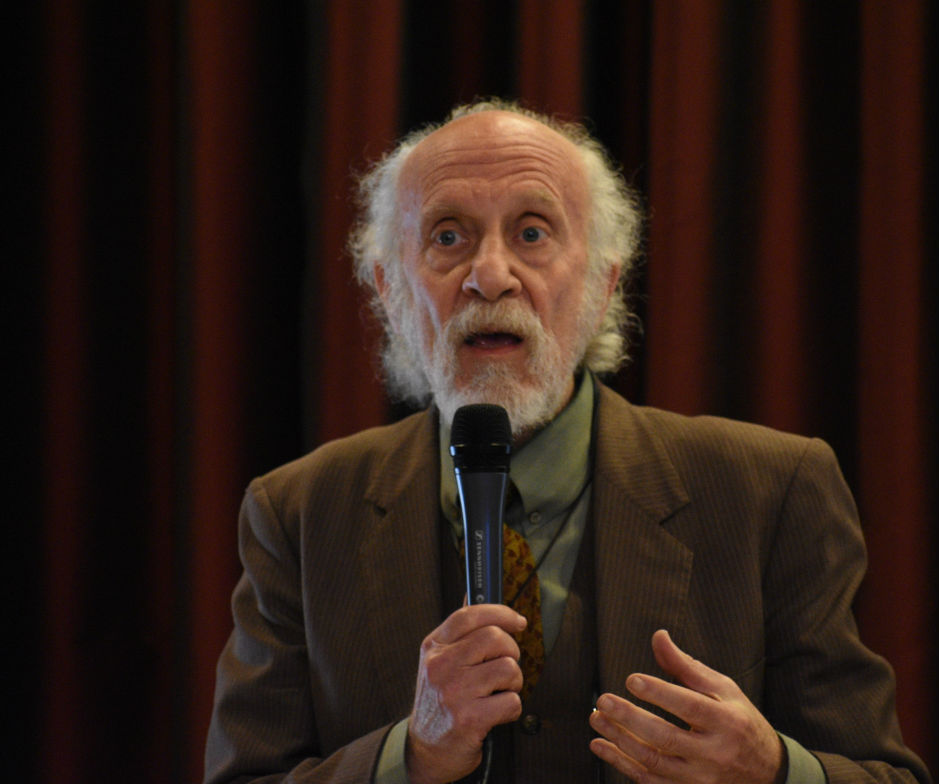 Lewis Elbinger spoke at a public forum at the Chico Women's Club on Jan. 27 Photo credit: Alex Grant