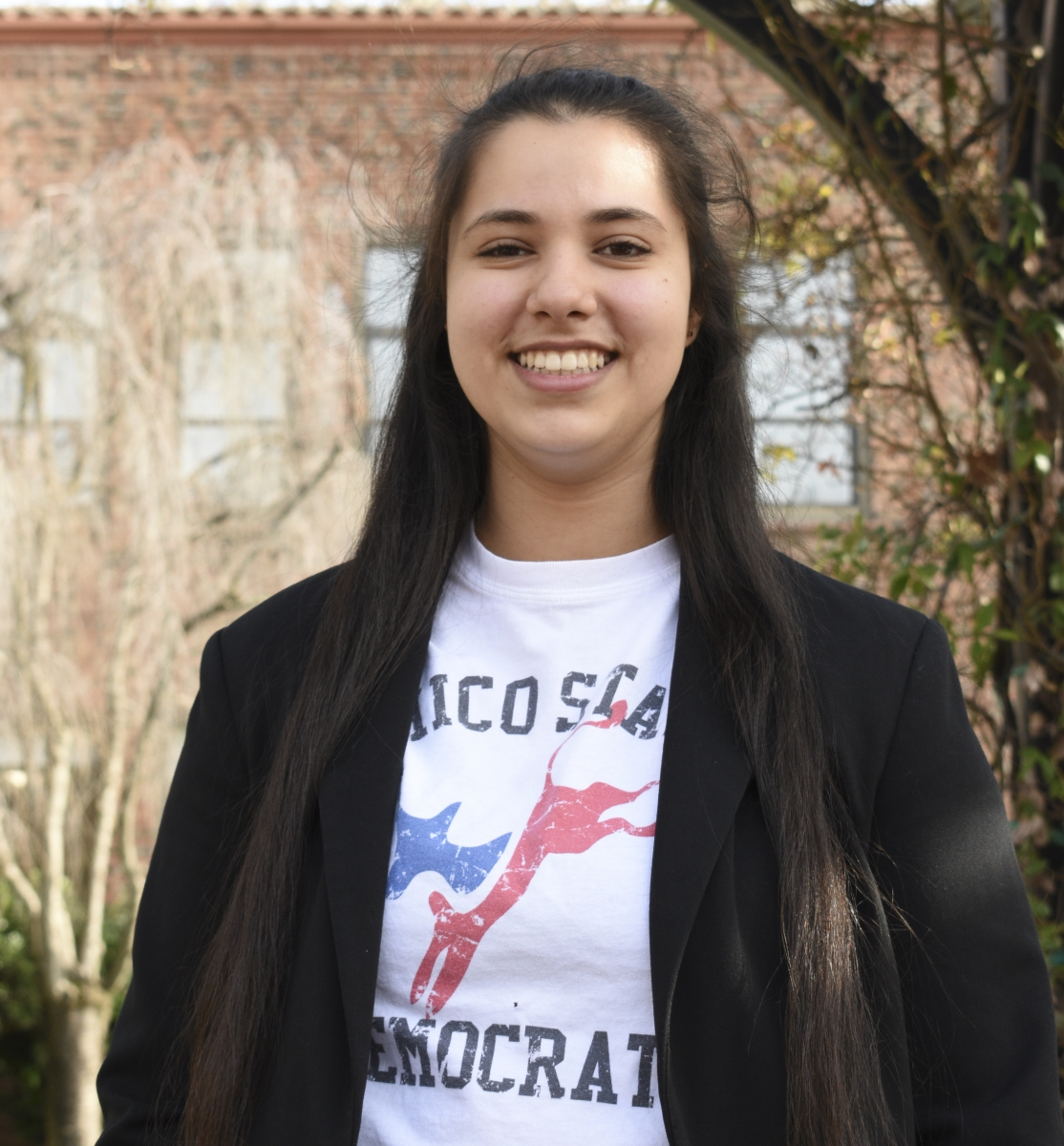Brigitte Dahrouj encourages all students that are interested in politics to come to a Democratic Club meeting. The club meets every Thursday at 6 p.m. in Butte 223. Photo credit: Alex Grant