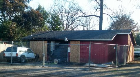 A fire erupted in a garage located at 1302 Dayton Road Wednesday. Photo credit: Tisha Cheney