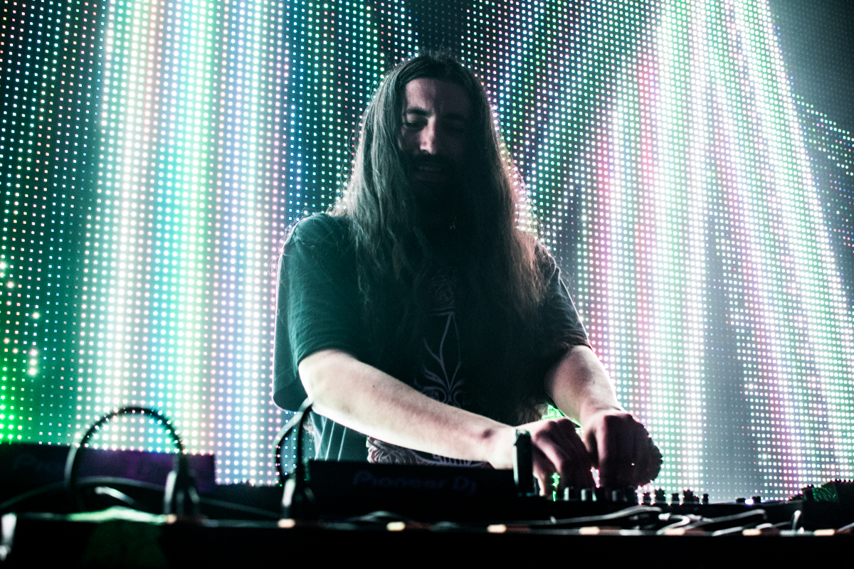 Space Jesus takes on the El Rey stage in Chico, California on Friday, February 23rd. Photo credit: Kate Angeles