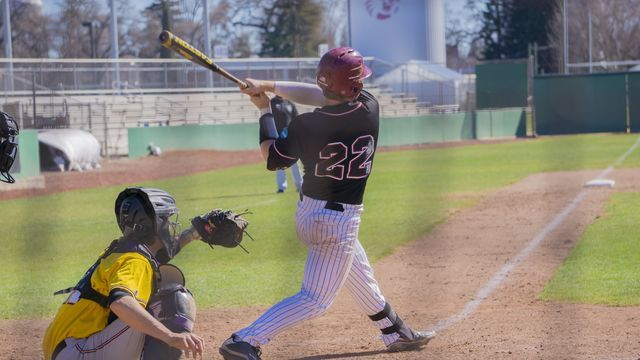 RJ Hassey led off for the Wildcats Sunday and doubled to left field.