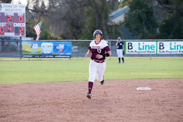 Bailey Akins rounding the bases following a home run. Photo Courtesy: Janna Weiss Photography