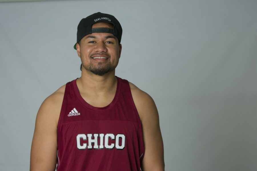 Chico+State+track+and+field+thrower+Joseph+Ilaoa+hopes+to+go+pro+after+college.+Photo+credit%3A+Carly+Maxstone