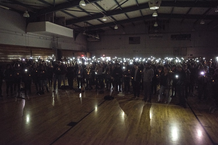 Candlelight vigil held for death of student