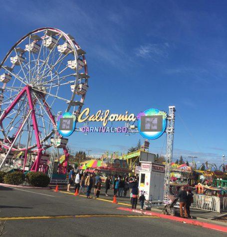 The carnival outside Chico Mall. Photo credit: Josiah Nicholl