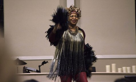 In Bakersfield California, Ayo Sharpe Mouzon dances during the Peace Concert held at the Center for Spiritual Living. Photo credit: Martin Chang