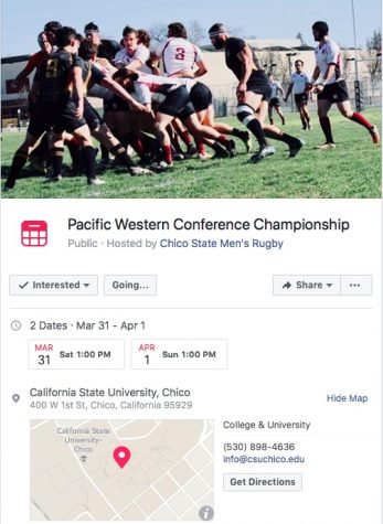 The Wildcats prepare to host Stanford Saturday at 1 p.m.   Photo Courtesy of Chico State Men's Rugby Facebook