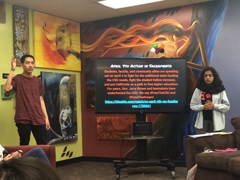 Students meet to raise awareness of university movement