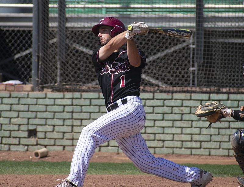 Chico State baseball shortstop Casey Henderson is one of two Wildcats to start in every game this season as of April 22. Photo credit: Martin Chang