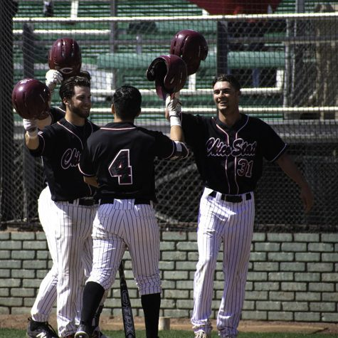 Wildcats second baseman Louie Canjura celebrating after his first career home run Sunday. Photo credit: Martin Chang