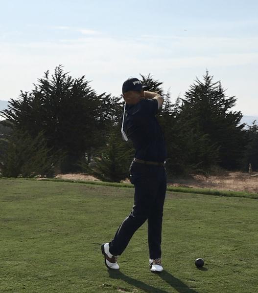 Josh McCollum tees off during Chico State golf practice. Photo Courtesy: Josh McCollum