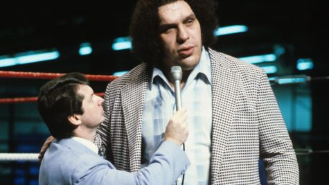 Andre being interviewed by Vince McMahon image from hbo.com