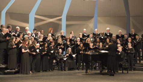 The University Chorus took stage first for