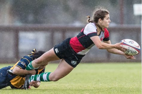 Darby McFall was named most outstanding player in the Pacific Mountain Rugby Conference. Photo courtesy of John Cort
