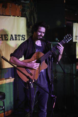 Paraic King plays a song he wrote at Chico Unplugged on Thursday. Photo credit: Tara Killoran