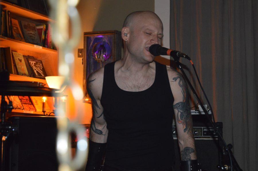 Harsh R screams his lyrics throughout Blackbird on Tuesday. Photo credit: Daelin Wofford