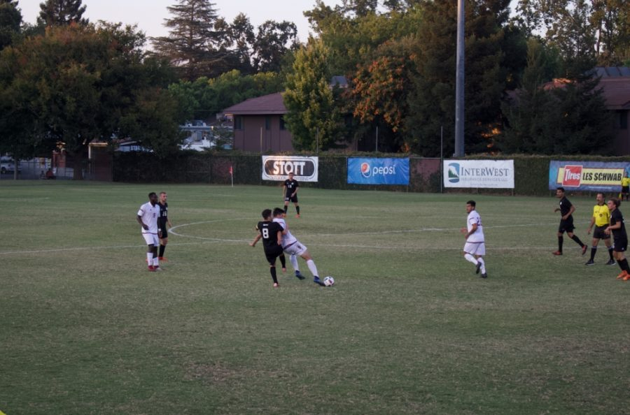 Chico State controls possession against Seattle Pacific in this archived photo Photo credit: Maury Montalvo